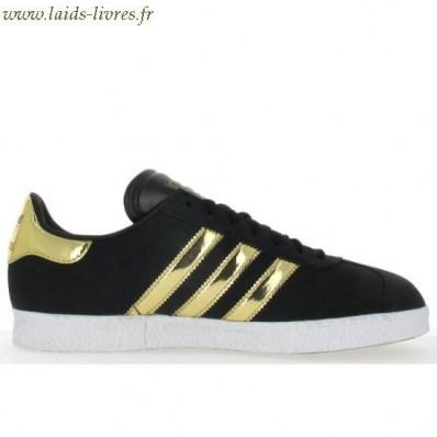adidas gazelle noir et doré