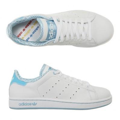 adidas stan smith 2 blanc bleu