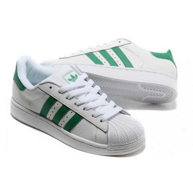 adidas superstar femme blanche et verte
