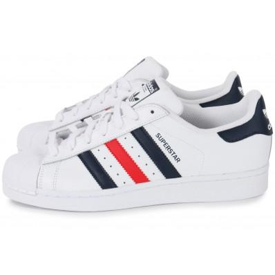 adidas superstar femme bleu blanc rouge