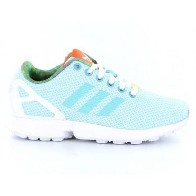 adidas zx flux bleu ciel femme