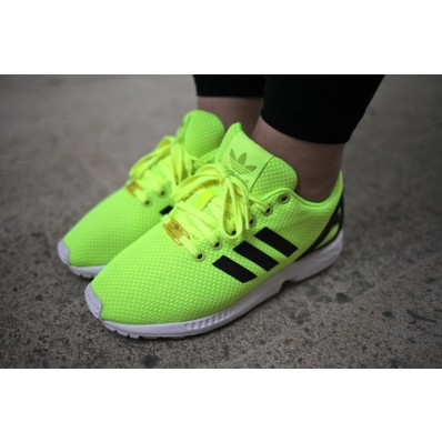 adidas zx flux jaune fluo homme