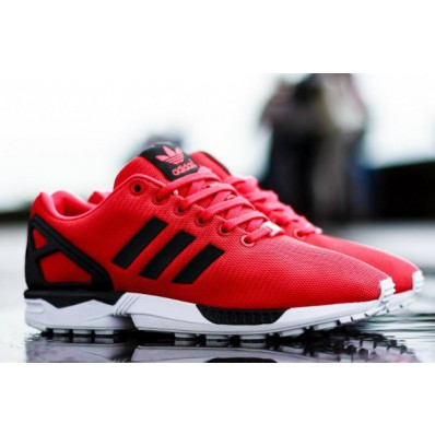 adidas zx flux rouge