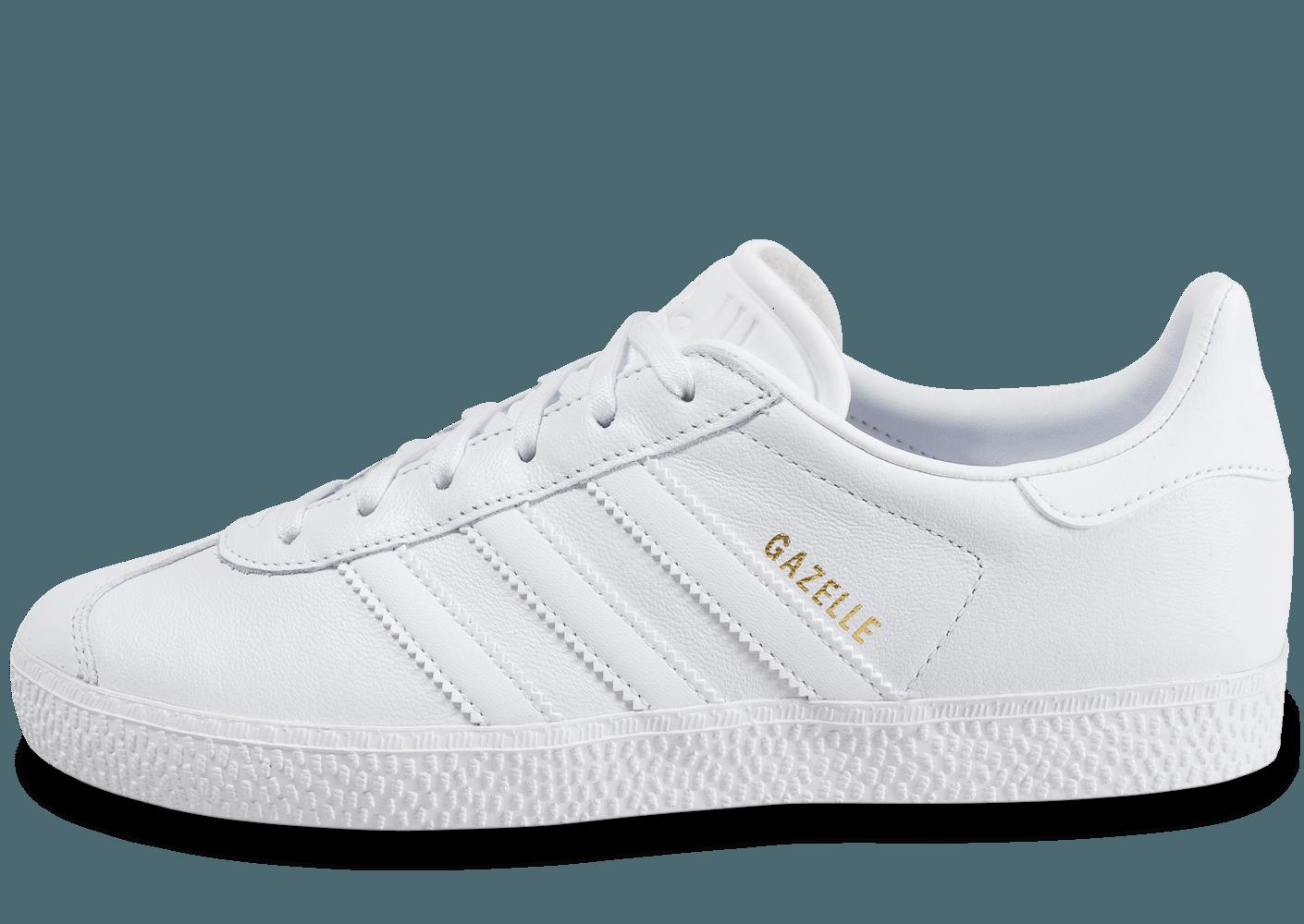 gazelle blanche femme adidas