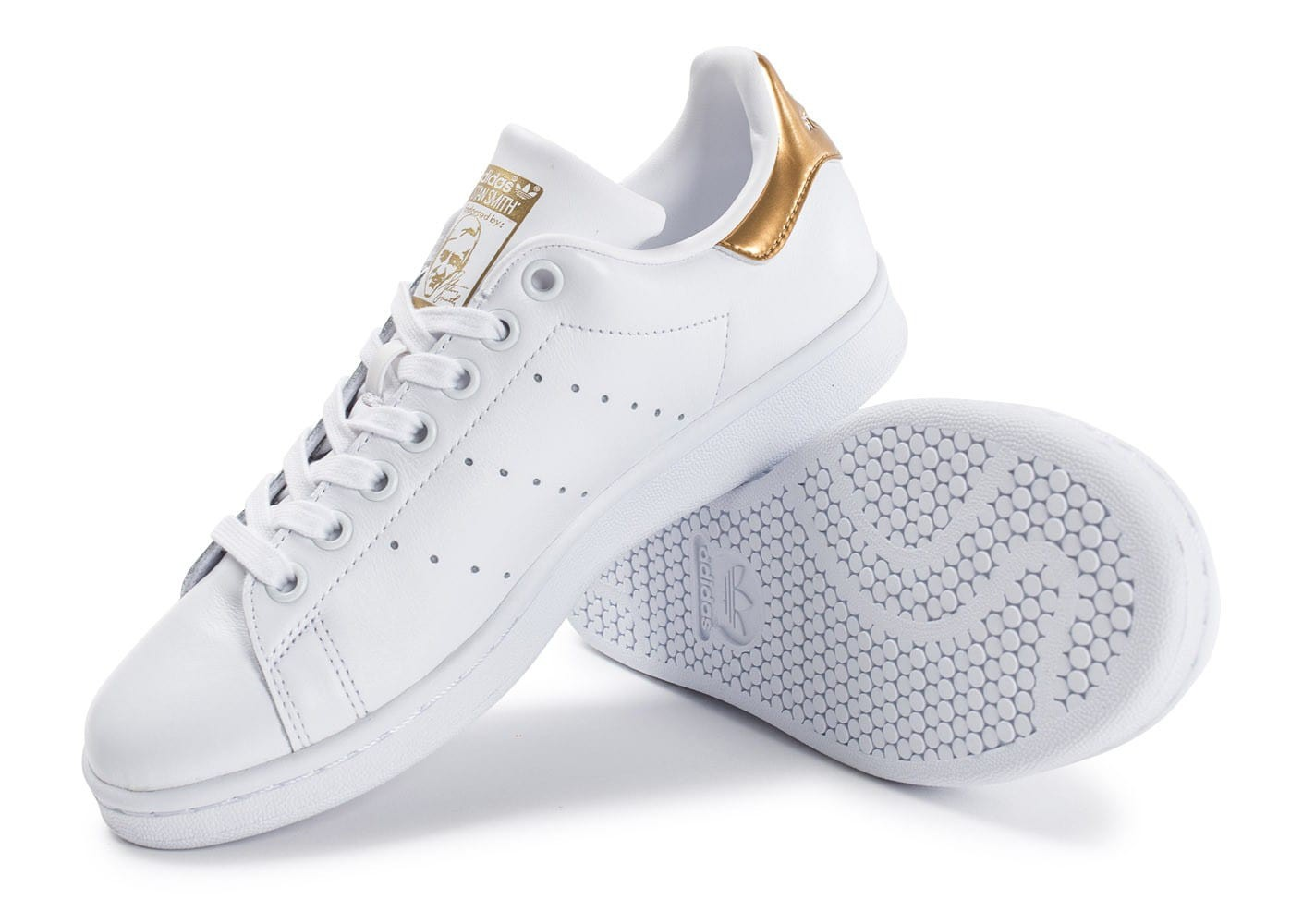 Adidas Chaussure Stan Smith Cf S75188 BlancOr pas cher