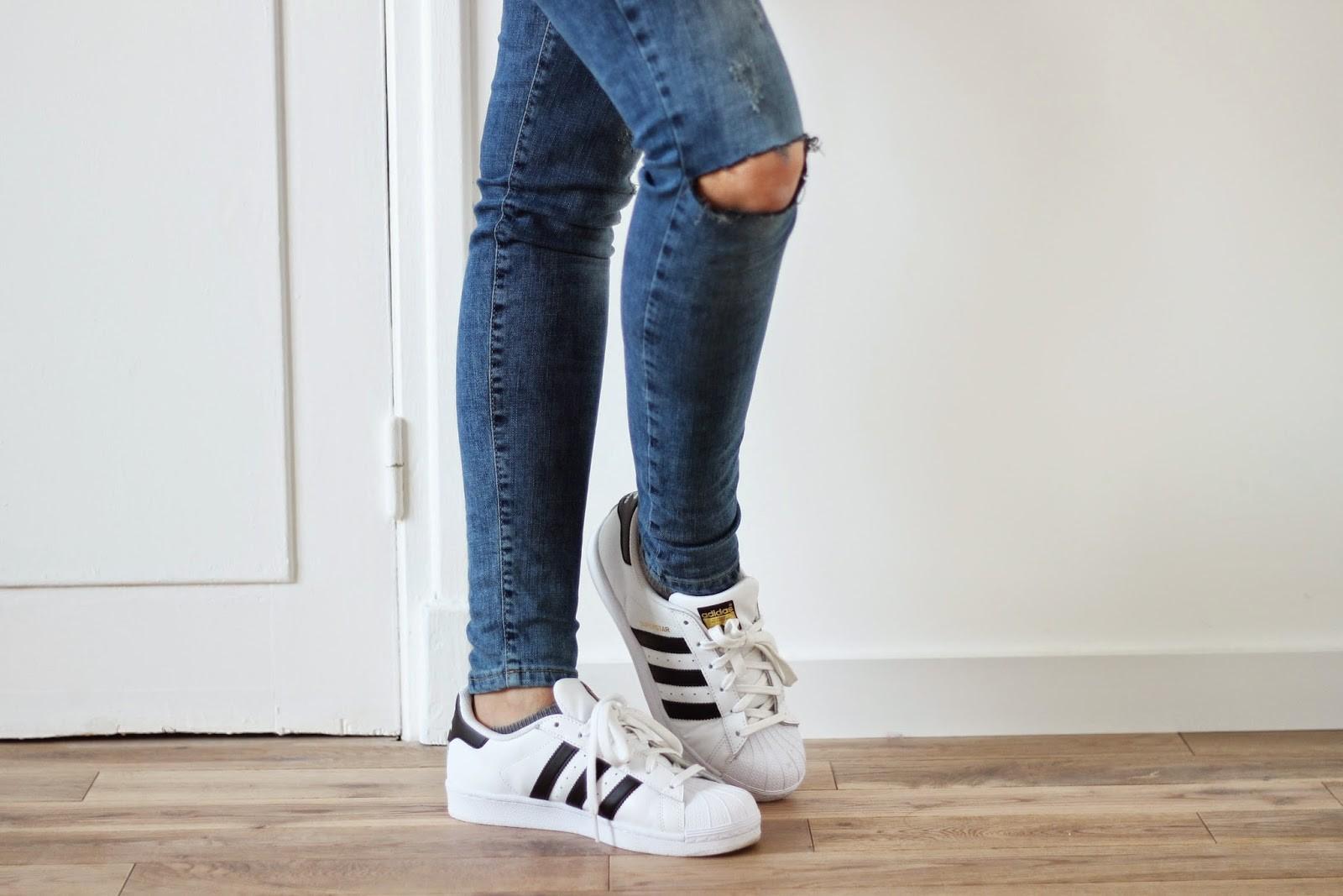 adidas Blanche Superstar De Femme Importation Adidas Porte