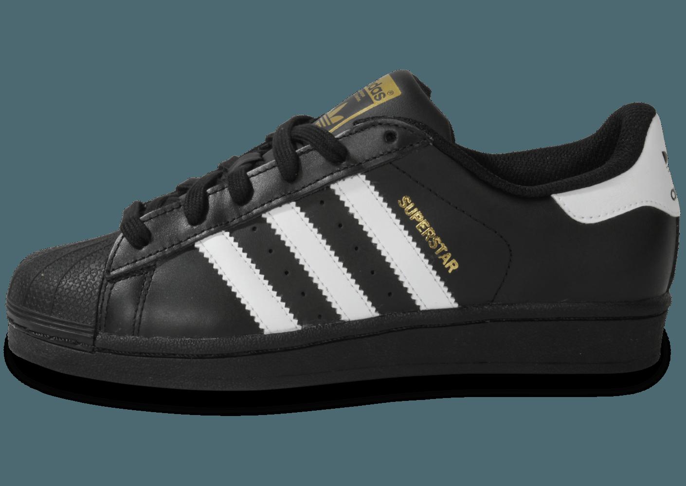 adidas superstar blanche noir or