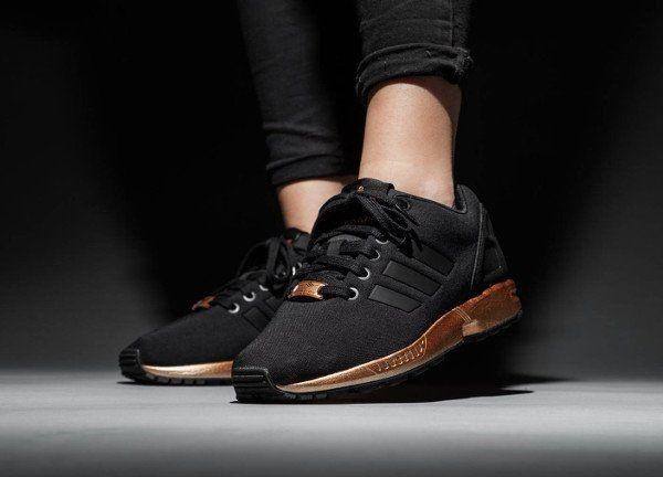 basket noir et or femme adidas