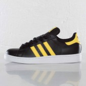 adidas superstar yellow stripe