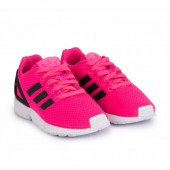 baskets adidas original zx flux rose fluo noir