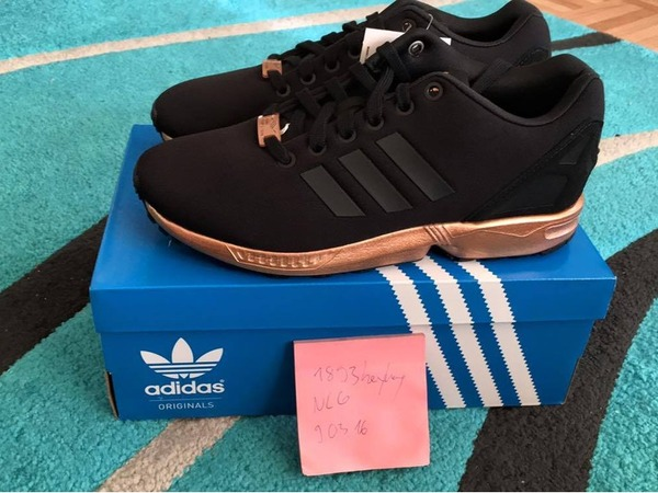 save off c795e 7deb5 new zealand adidas zx flux bronze and negro c6655 a1199